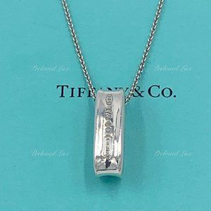 Authentic Tiffany & Co 1837 Oval Ring Necklace